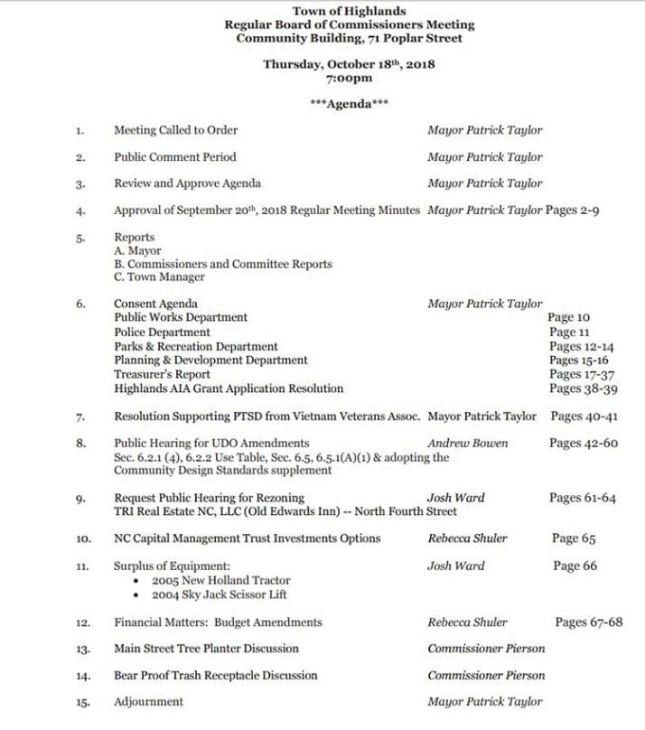 agenda.10.18.18