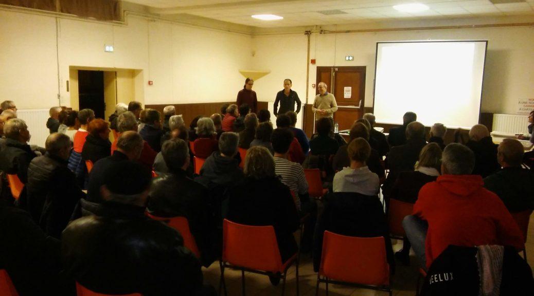 Réunion à Marsat le 28 novembre 2019 - Association Marsat Nature et Préservons le Plateau de Lachaud à Châteaugay.