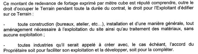 Contrat de foretage extension possible de l'exploitation
