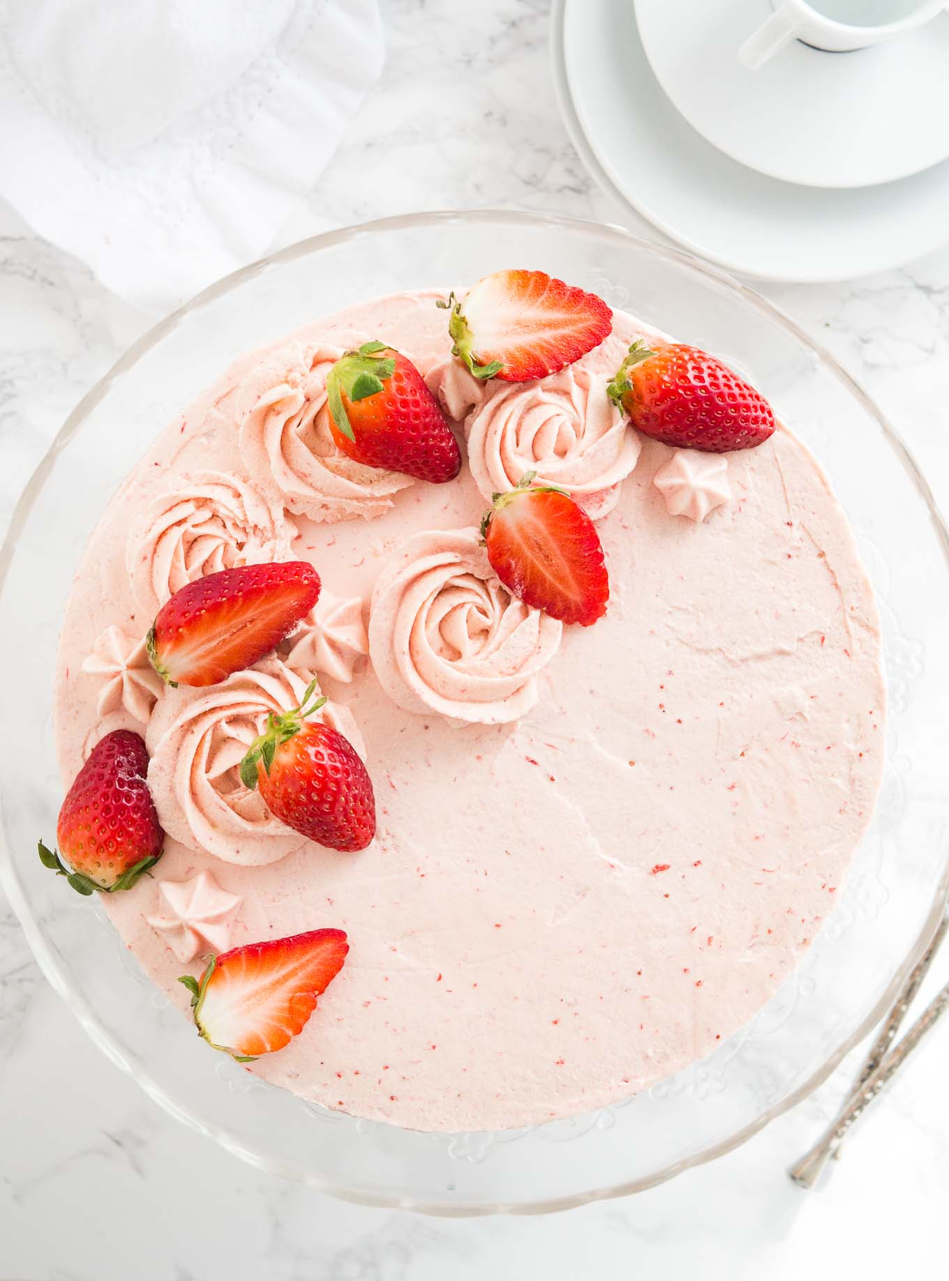 Homemade Strawberry Cake Recipe Fresh Strawberry Cake