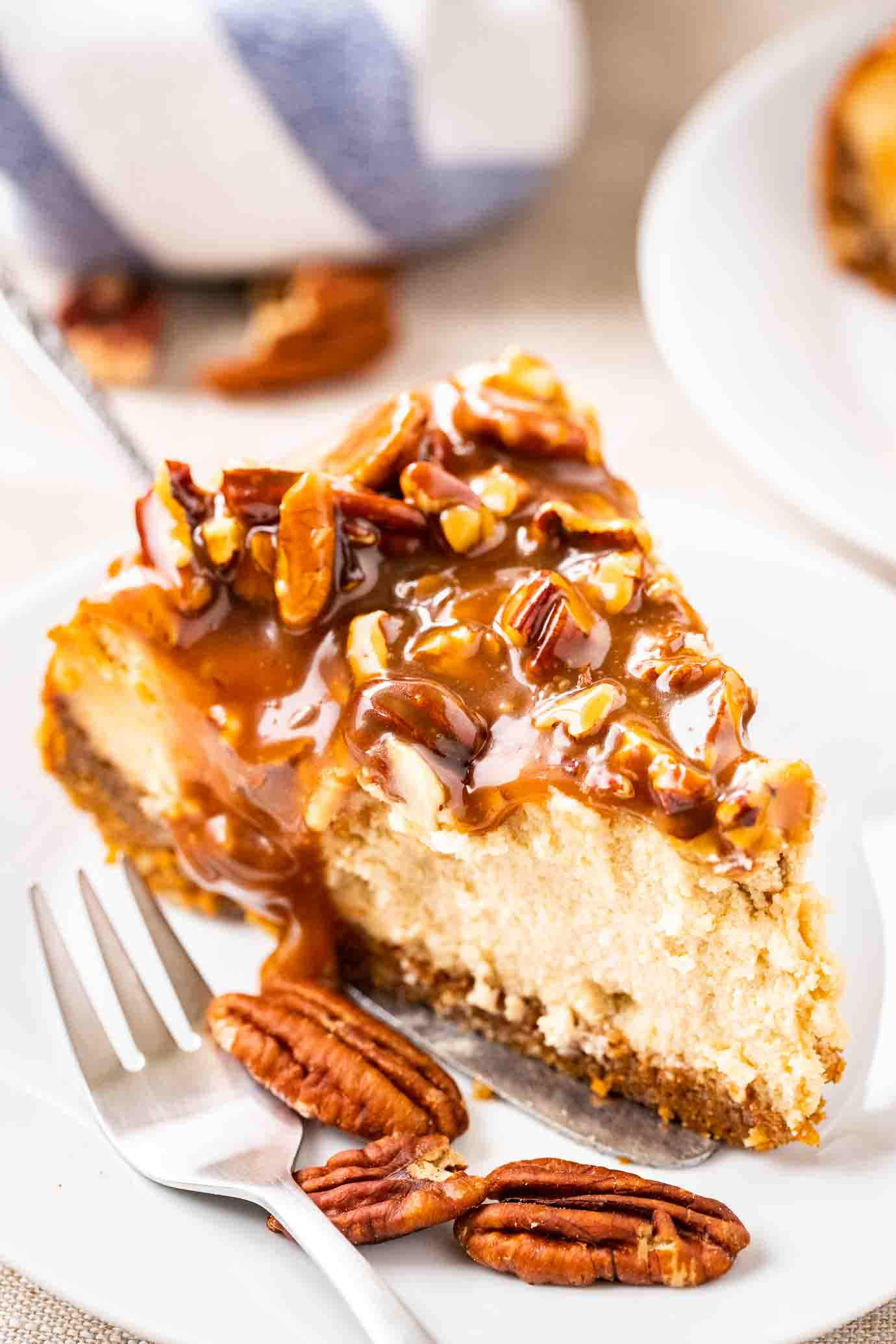Pecan Pie Cheesecake Plated Cravings