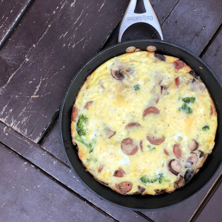 catchall frittata with veggies and meat