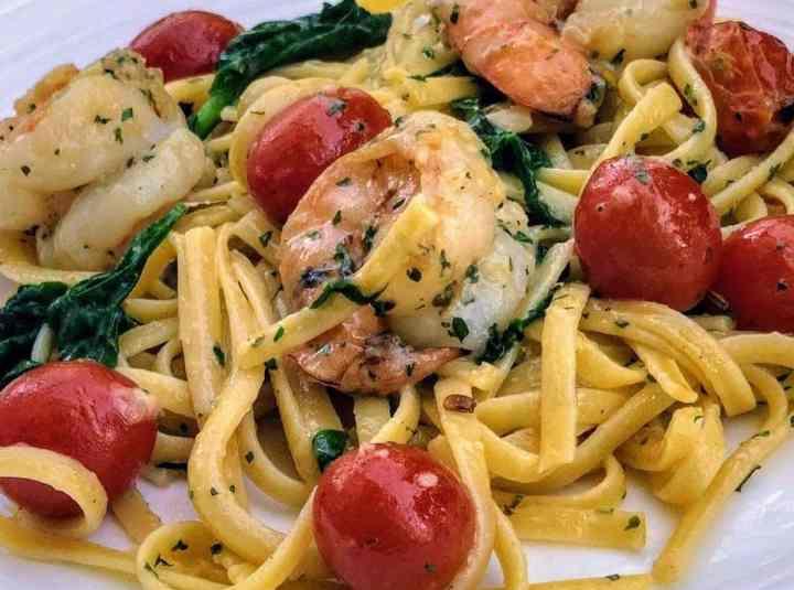 Tomato and Shrimp Linguini