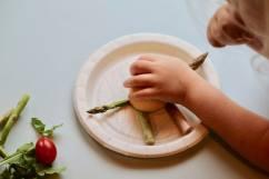 Making Asparagus People Vegetable Craft