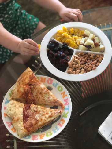 Snacky Plate 7/21/18 with pizza