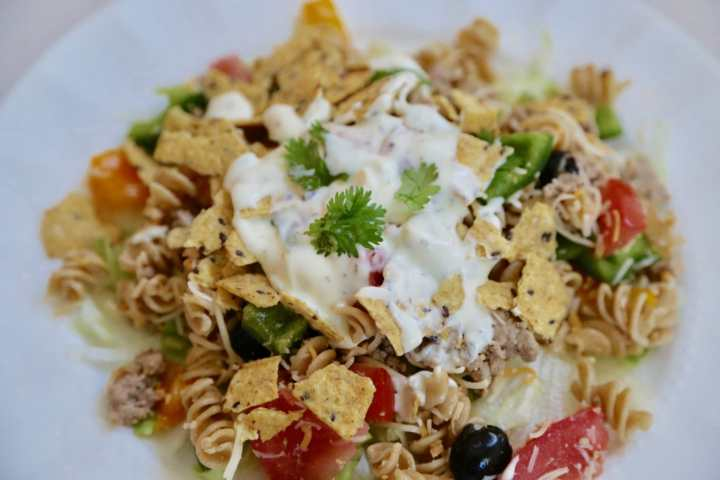 Crunchy Taco Salad with Ranch Dressing
