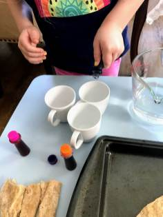 Adding color to cup