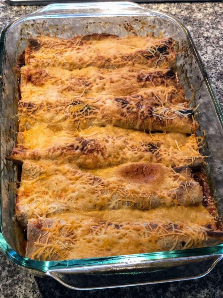 baked-enchiladas inn casserole dish