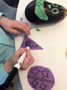 Coloring witch hat