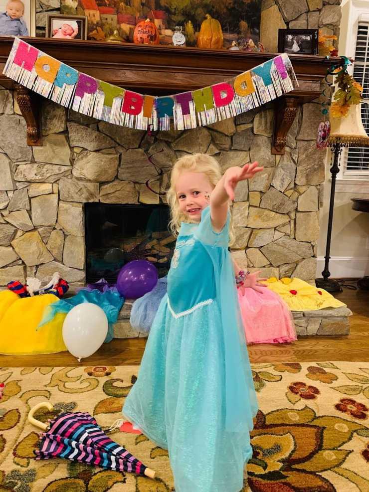 child dressed as princess