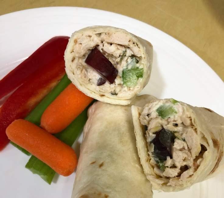 Dinner chicken salad wraps