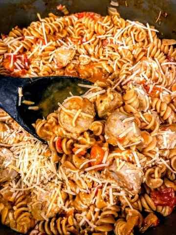 one pot chicken sausage pasta