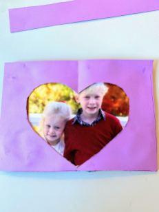 framed heart-shaped photo