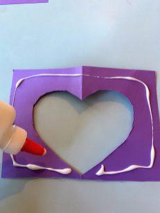 glueing paper to cardboard