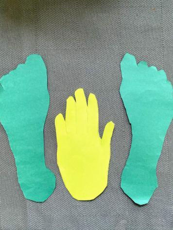 cutout hand print and foot print