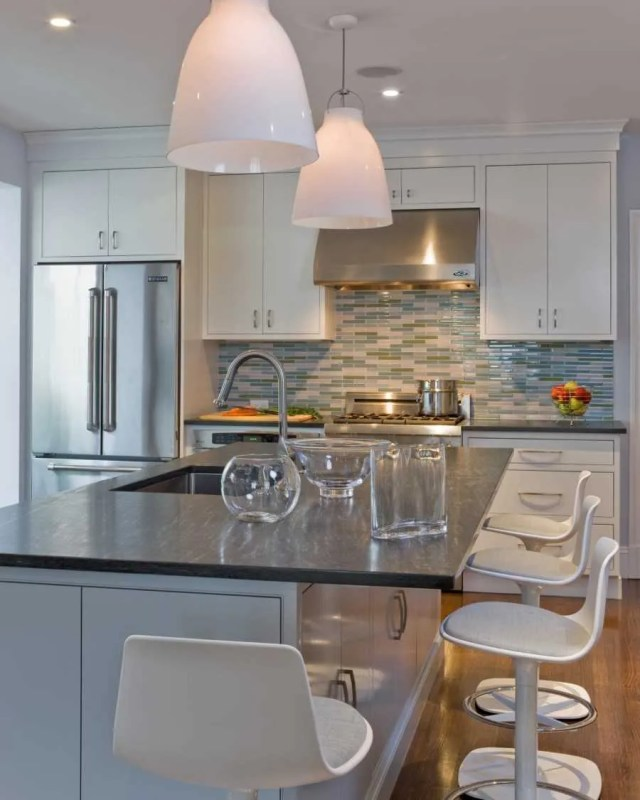 Platemark Interior Design Brookline Kitchen Counter