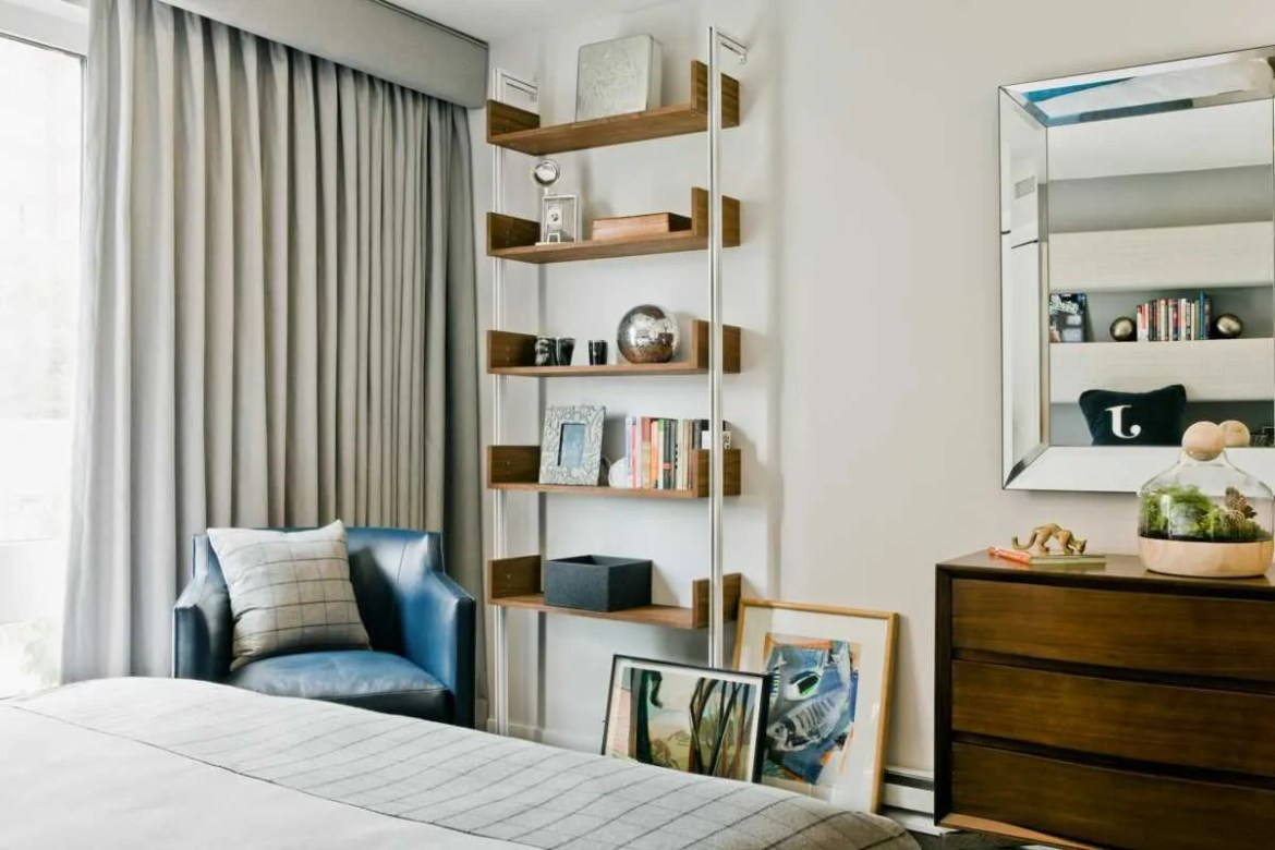 Platemark Interior Design Harvard Square Boys Bedroom Shelf