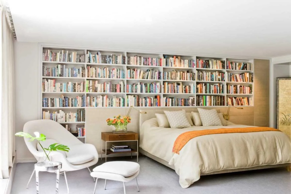 Platemark Interior Design Harvard Square Master Bedroom Bookshelves