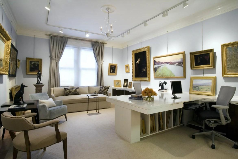 Platemark Interior Design Newbury Street Gallery Art Wide View