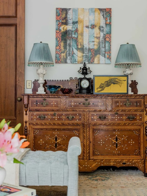 Platemark Interior Design Brattle Street Cambridge Living Room Buffet