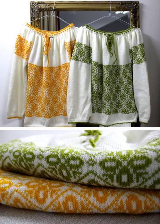 ie românească tricotată