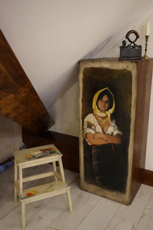 Mobila de bucatarie pictata manual de Mircea Ungurean (4)