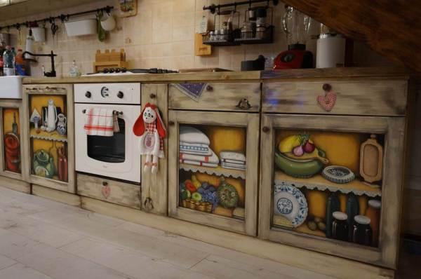 Mobila de bucatarie pictata manual de Mircea Ungurean (6)