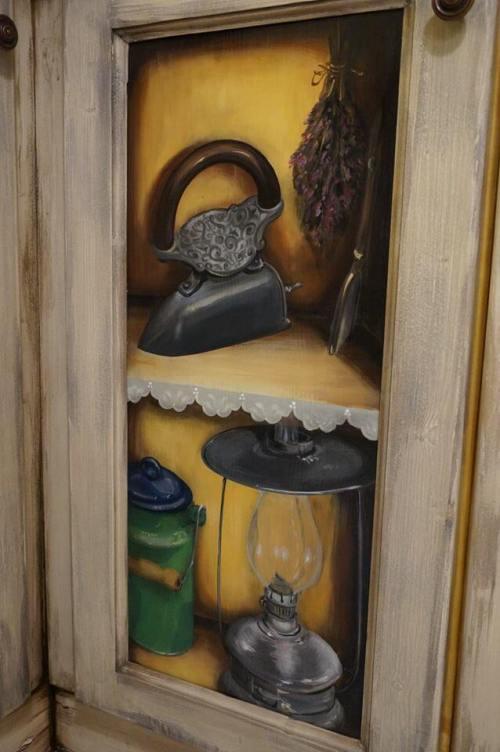 Mobila de bucatarie pictata manual de Mircea Ungurean (8)
