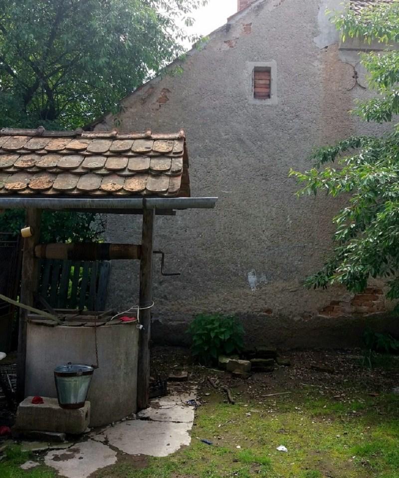 Putul cu apa din care se uda legumele din solar la Vad, in gospodaria La Borcan