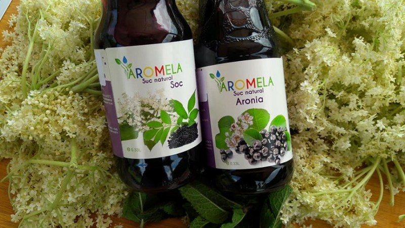 Sana Plant Extract Aromela, suc de soc, suc de aronia