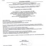 certificat constatator greenspire Legume de Tara, Albota, Romania