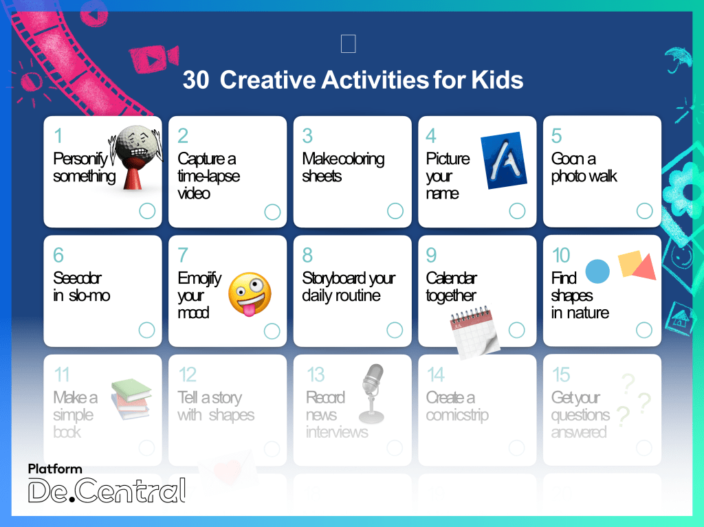 Apple's '30 Creative Activities for Kids'