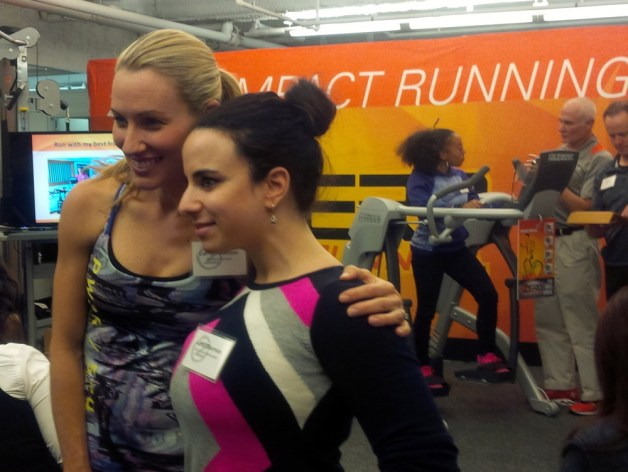 Olympian Carrie Tollefson and Zero Runner winner Adina Zilberman