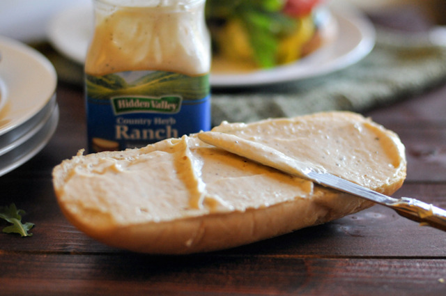 Roasted Ratatouille Ranch Hoagies by HeathersDish.com
