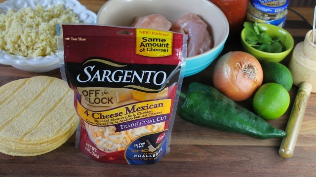 Sargento Cheesy Chicken Tostadas missinthekitchen