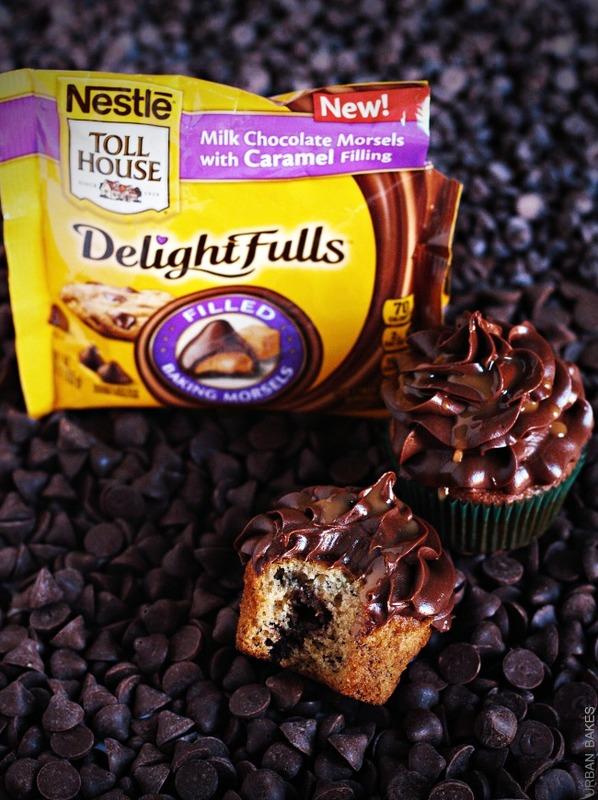 Banana and Caramel Chocolate Chip Cupcakes | URBAN BAKES