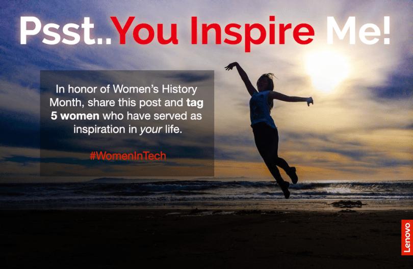 You inspire me.