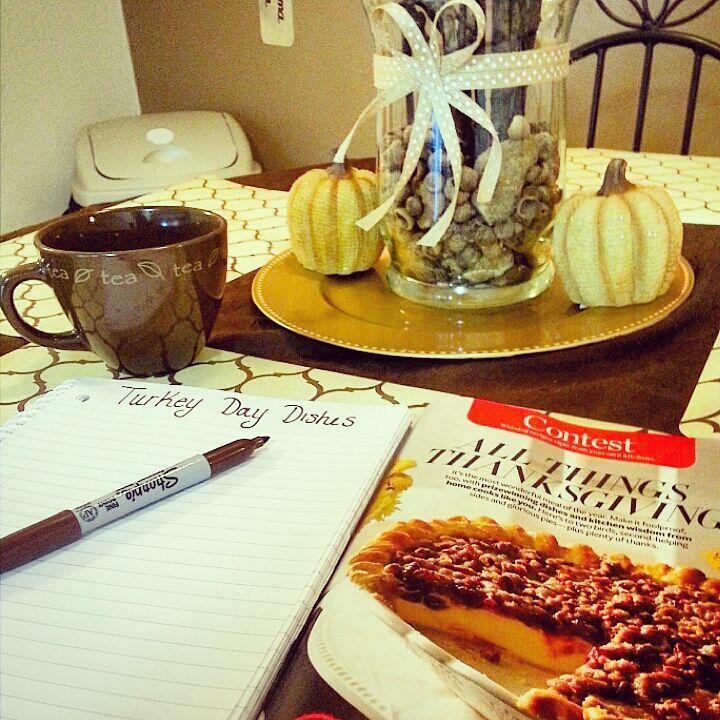 Planning Thanksgiving Dinner