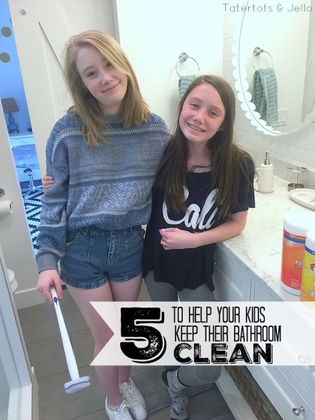 5 ways to help kids keep their bathroom clean