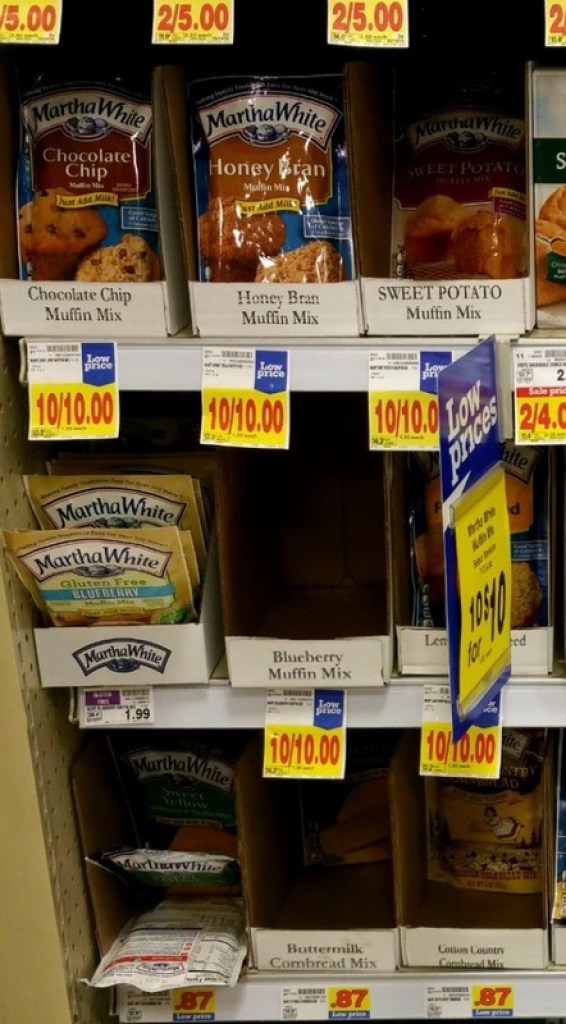Martha White on shelves