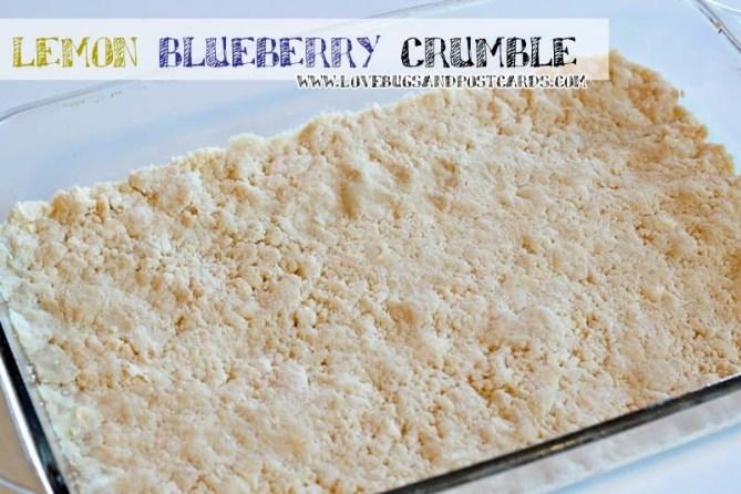 Lemon Blueberry Crumble Recipe