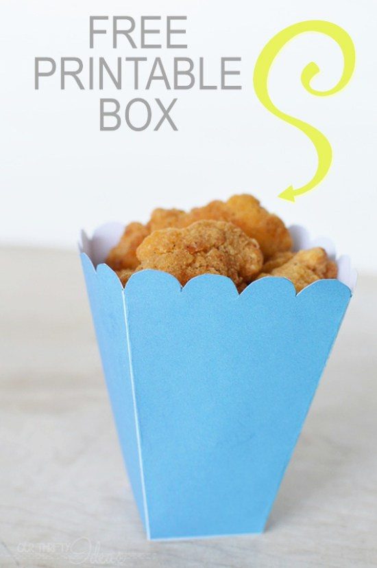 popcorn chicken box