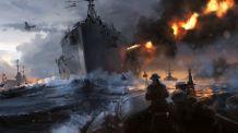 Battlefield 1 Naval Battle Concept Art 1