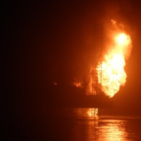Chevron oil rig explodes off coast of Nigeria; 2 killed