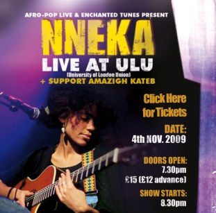 NNEKA flyer, ULU 4 Nov 2009