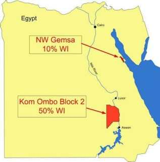 Dana Gas' Kom Ombo concession in Upper Egypt