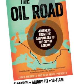 #TheOilRoad comes to Exeter University, 11th March 2013