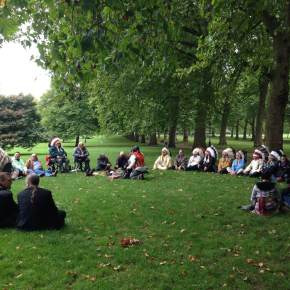 The Pipe Ceremony at Canada Gate, Green Park