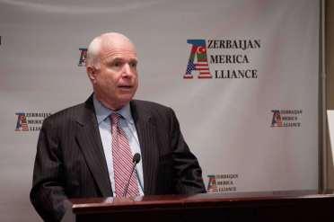 Senator John McCain speaking at the inaugural event of the Azerbaijan America Alliance
