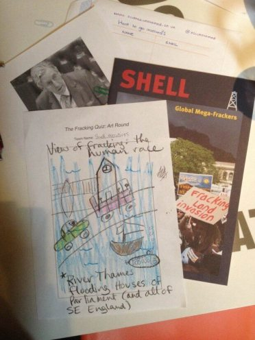 The winning entry from the 'art round' of the Fracking Quiz